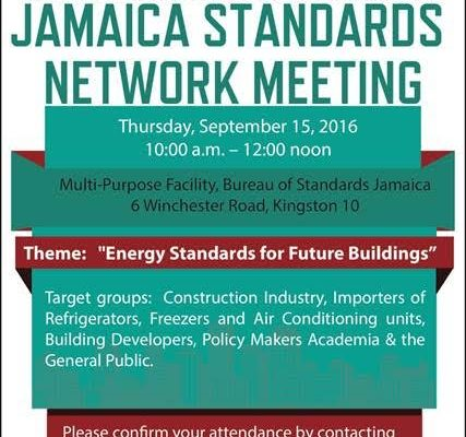 Jamaica Standards Network Meeting